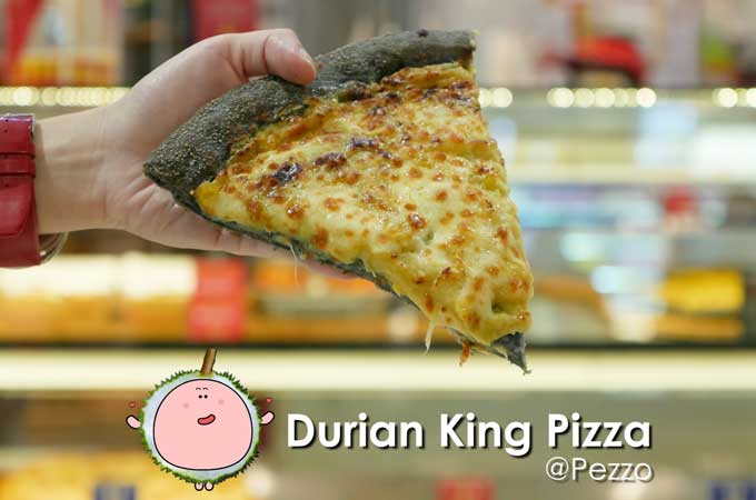 Pezzo Durian King Charcoal Pizza
