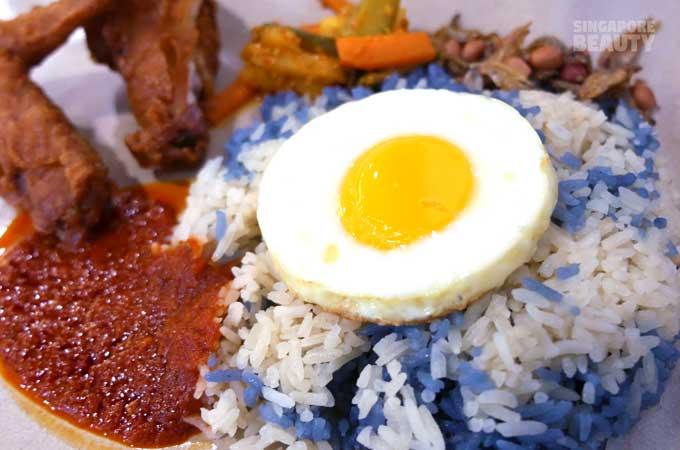 jia xian nasi lemak blue-rice