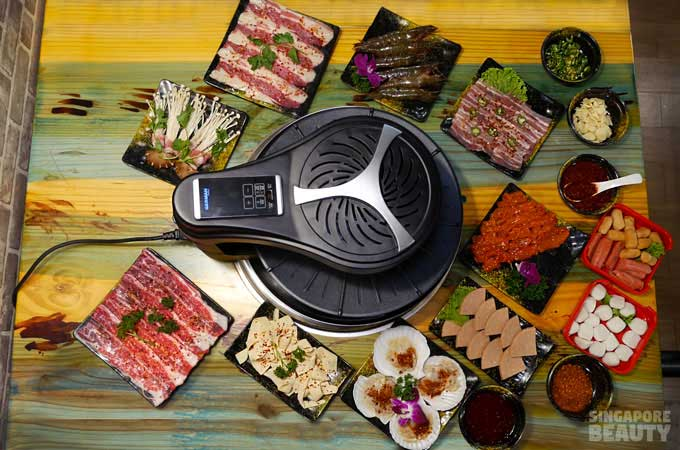 jiu-gong-ge-3d rotating BBQ