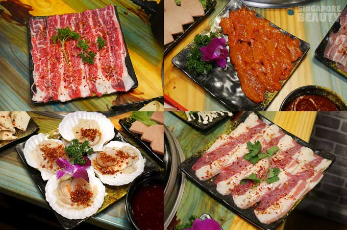 九宫格火锅-marinated meat