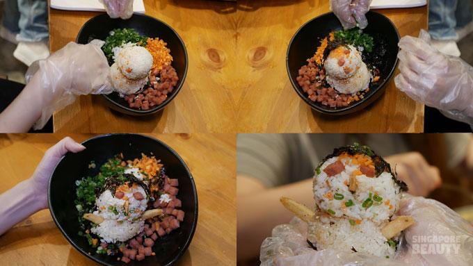 Chicken Up Spam Rice