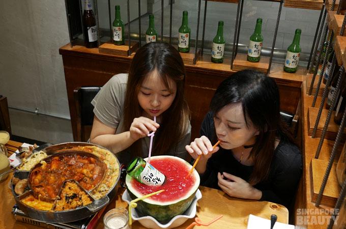 Chicken Up Watermelon Soju