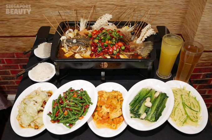 grilled fish set meal for 2
