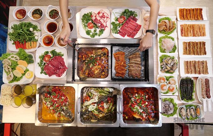 roast fish buffet