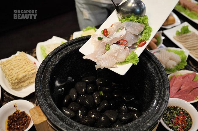 sauna fish hotpot buffet