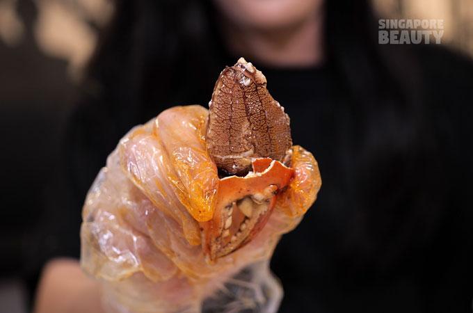 crab meat lollipop