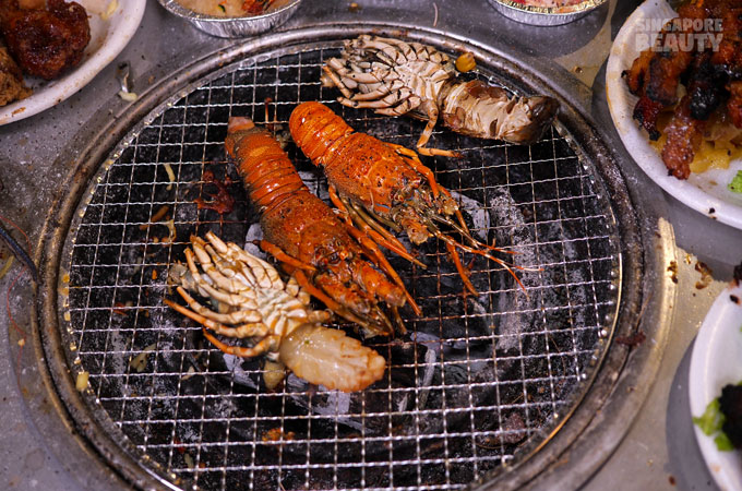 grilled lobster buffet