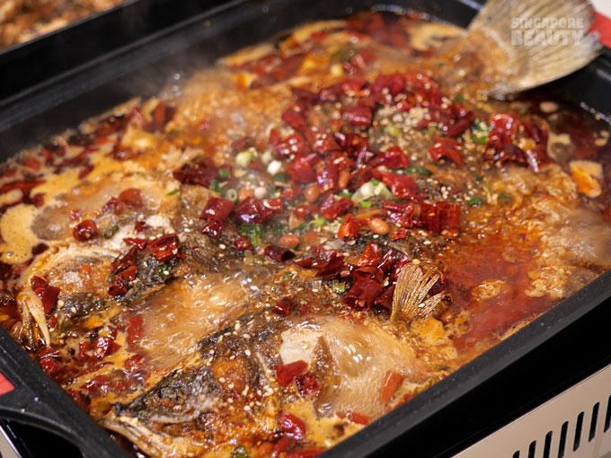 mala grilled fish hotpot