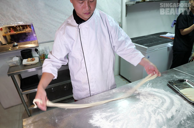 handmade longevity noodle