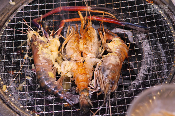 Thai giant river prawns