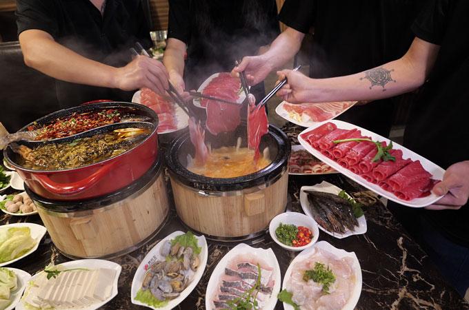 sauna hotpot fish buffet