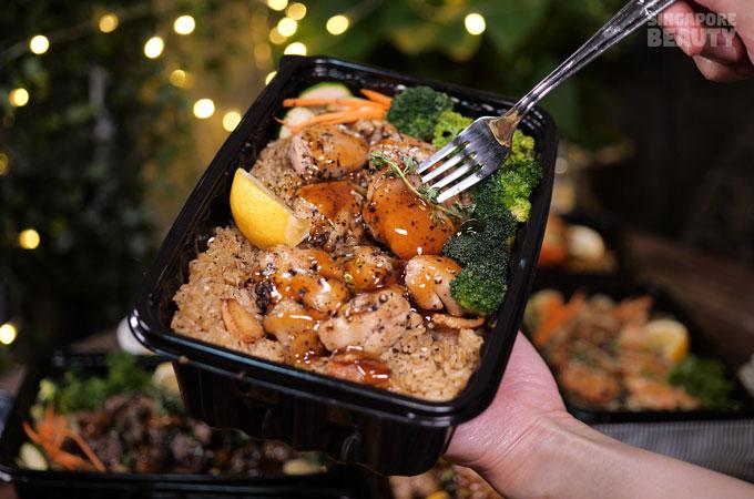 grilled-chicken bento