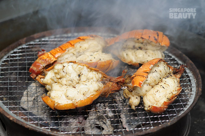 char-grilled lobster tail