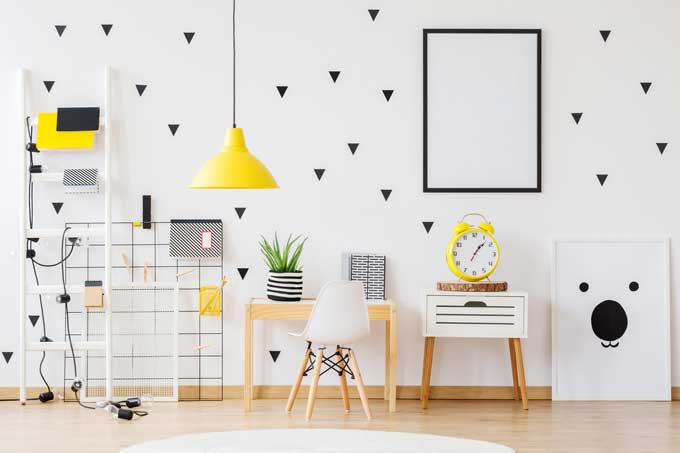 diy wallpaper geometric design