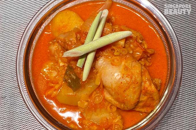 homemade lemongrass curry chicken