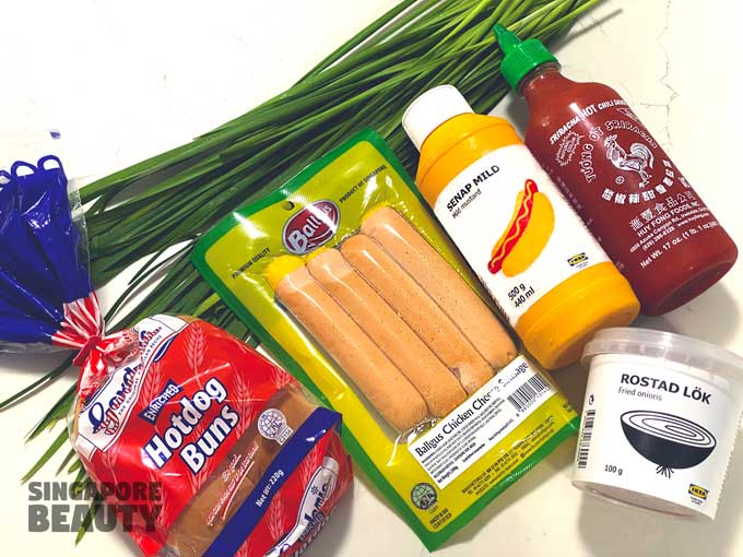 ingredients-for-Ikea-hotdog
