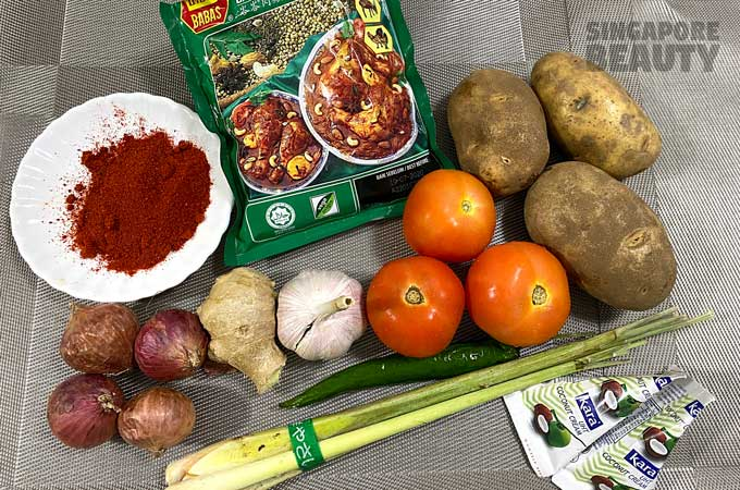 ingredients-for-lemongrass-curry-chicken