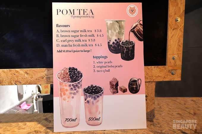 Pom tea bubble tea