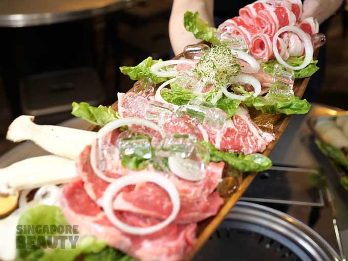 mixed BBQ beef platter