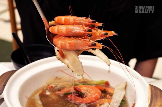 herbal prawn stew