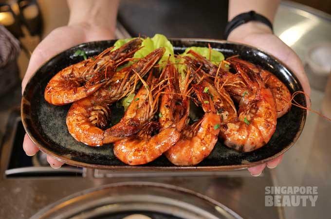 bbq spicy prawns