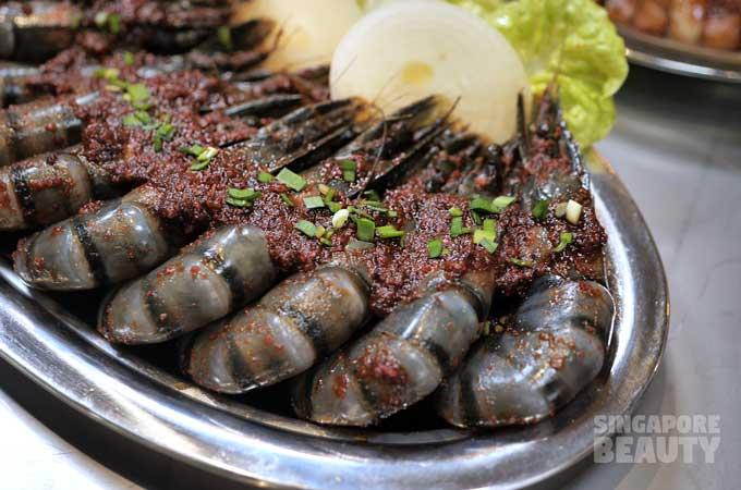 spicy sambal prawns