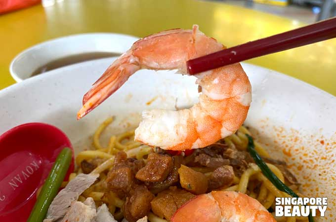 fresh prawn noodle