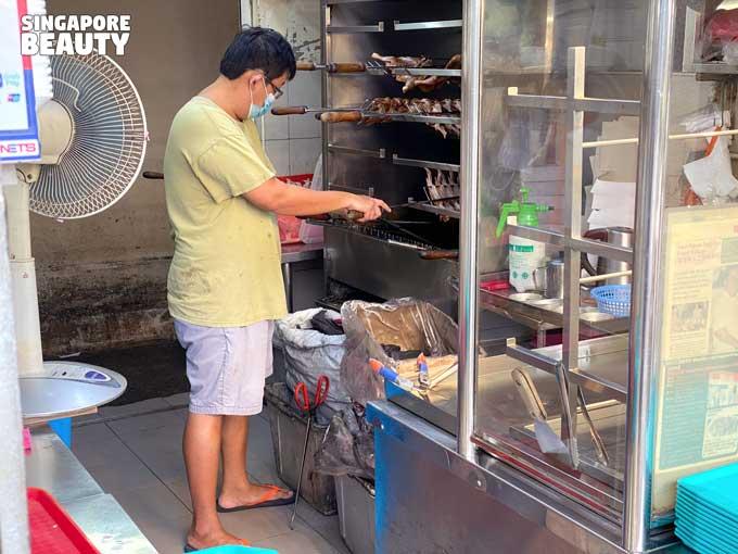 ah hwee chicken bbq rack