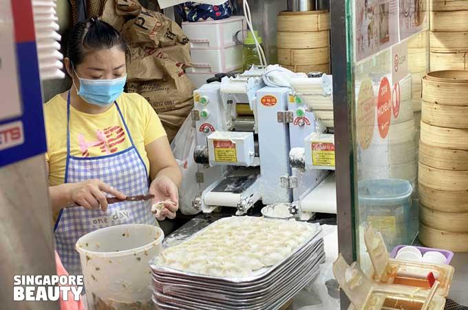 handmade xiao long bao