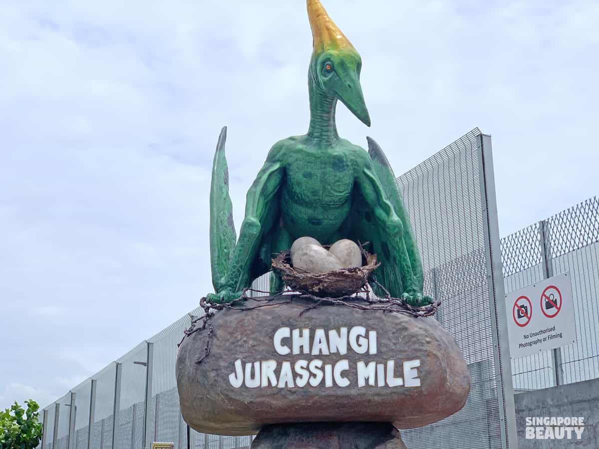 Changi airport new park connector jurassic mile dinosaur