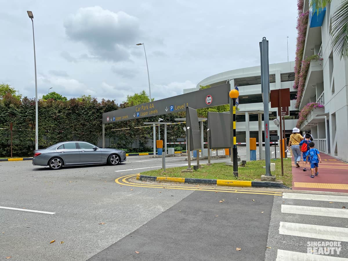 Changi airport terminal 4 carpark nearest Jurassic mile