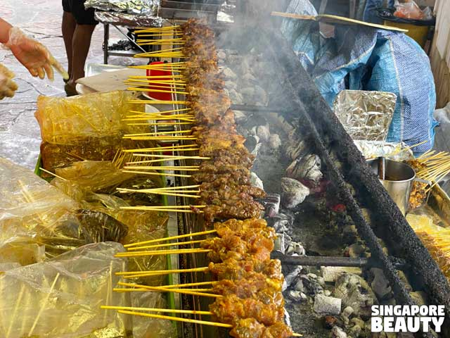Haron satay & chicken wing