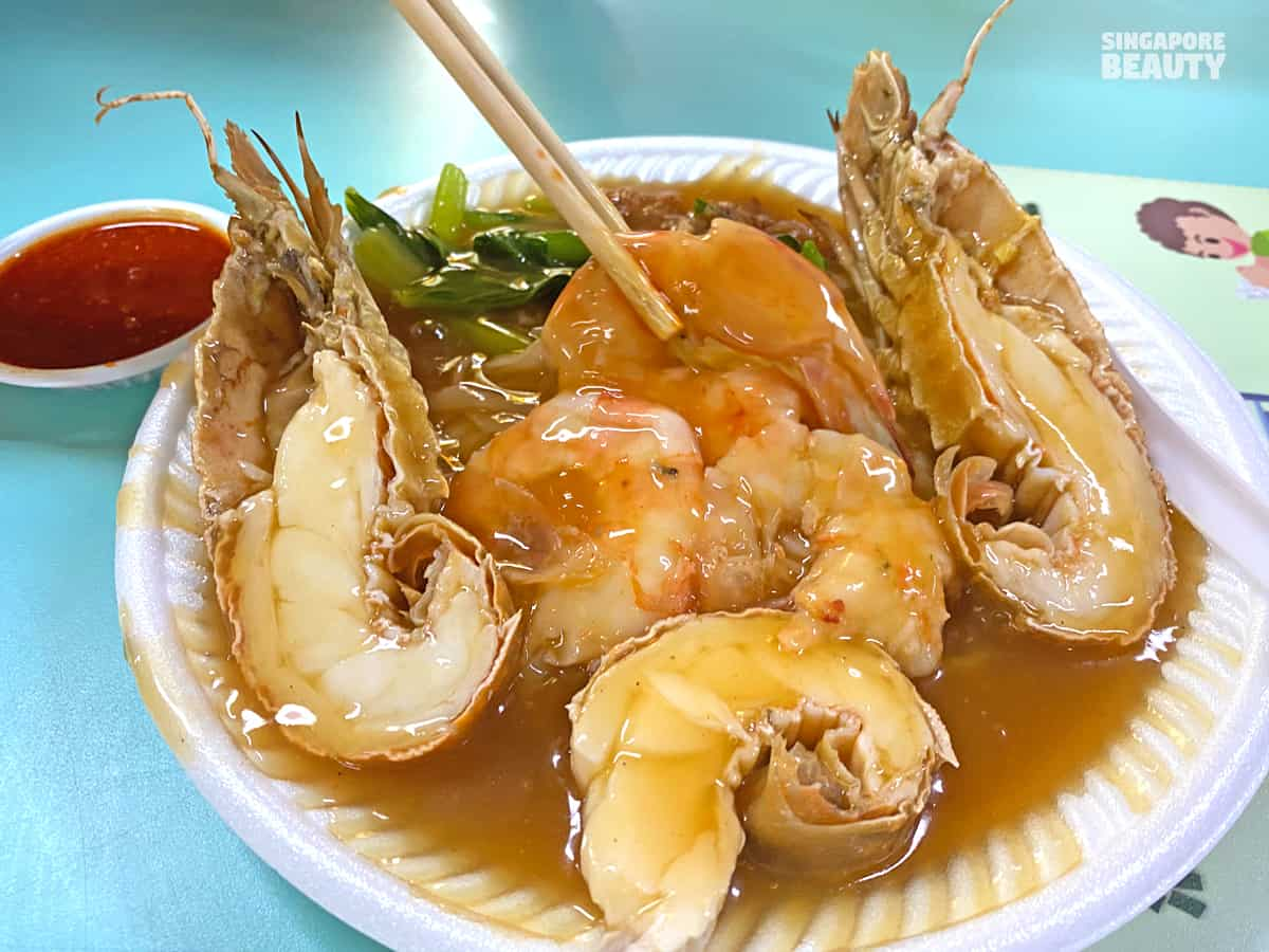 best Ipoh Hor fun in singapore with seafood crayfish lobster