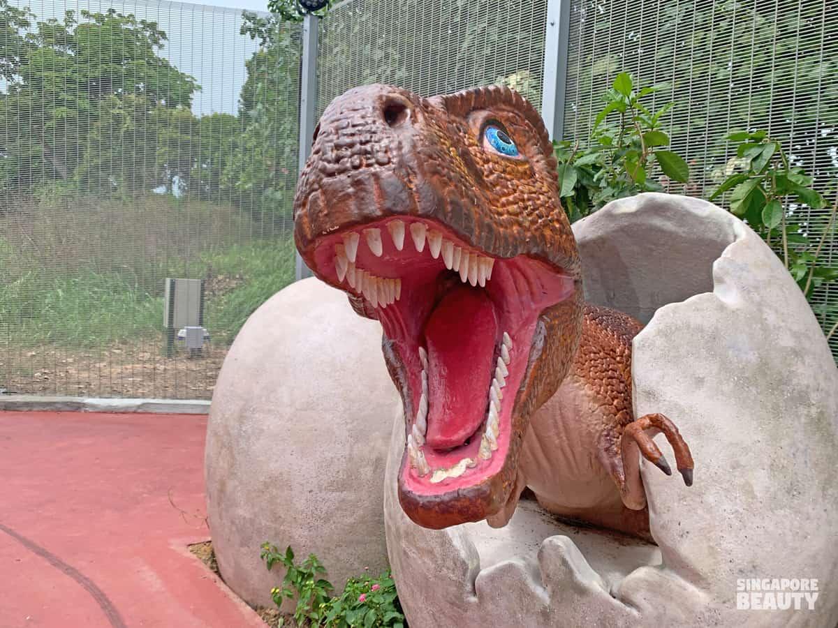 dinosaur removed jurassic mile vandalism