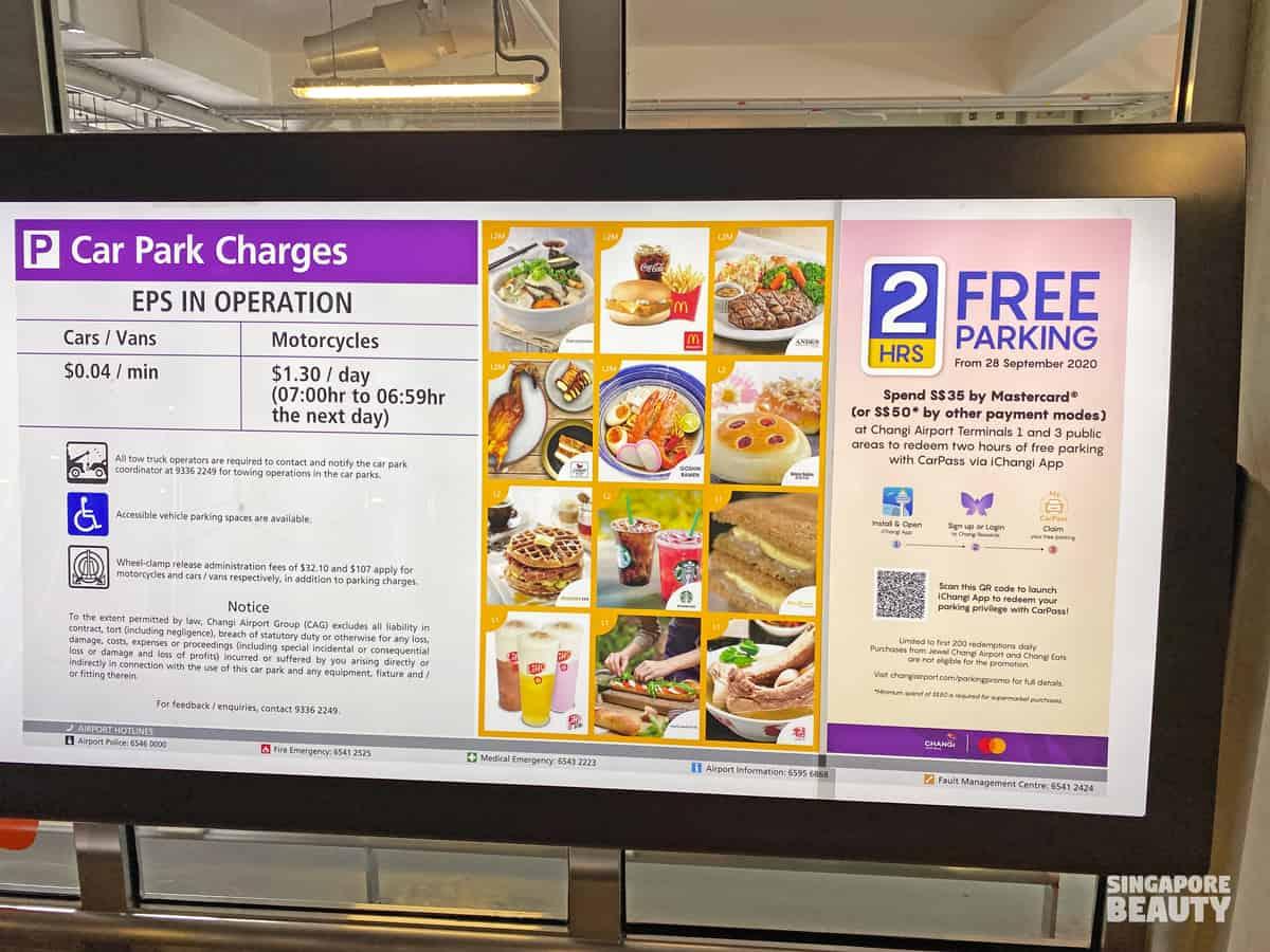 free parking changi airport jurassic mile