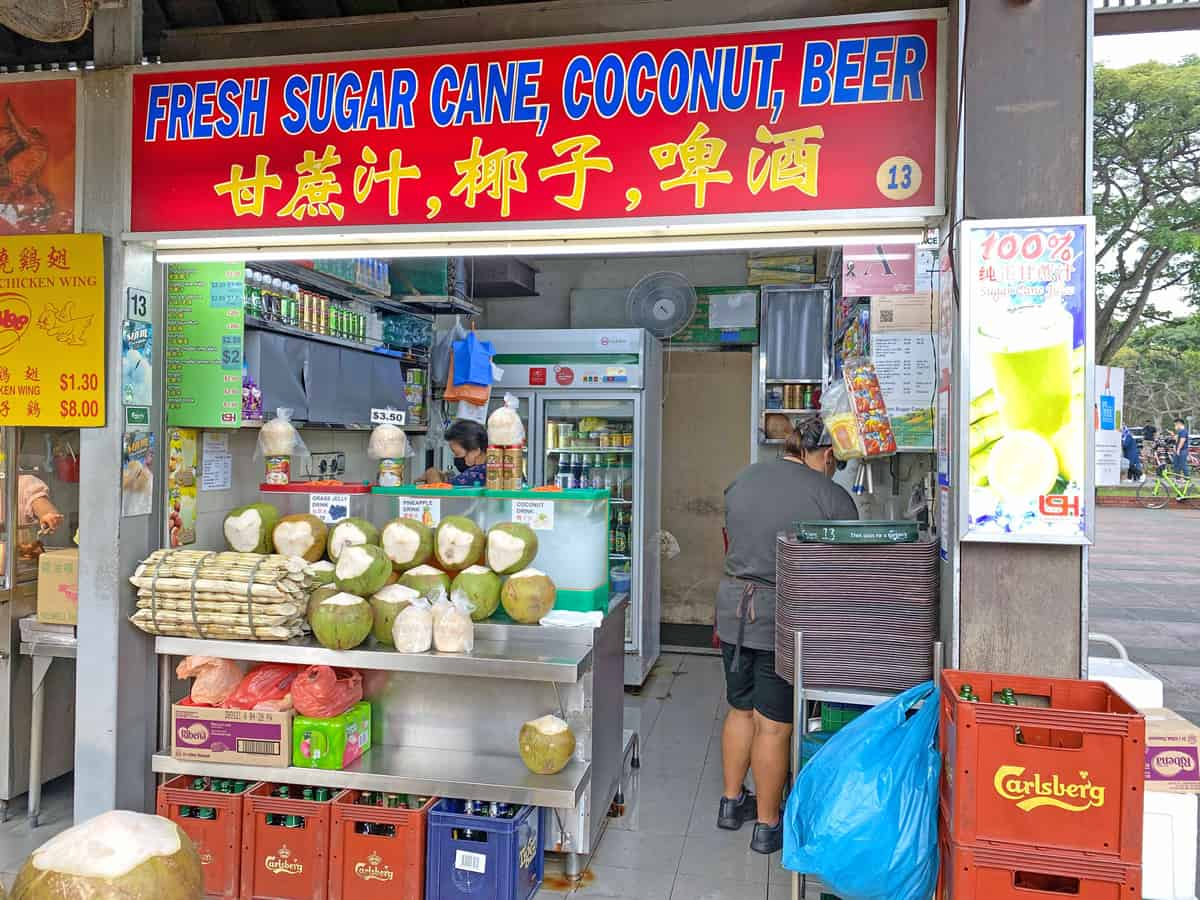 fresh sugar cane coconut beer