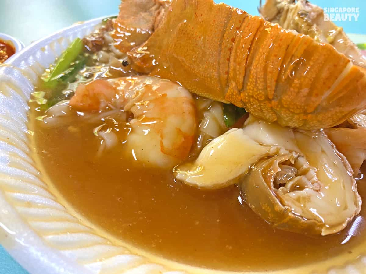 gravy with chicken seafood stock