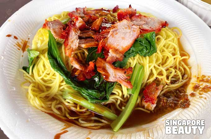 hwa kee barbeque pork noodle
