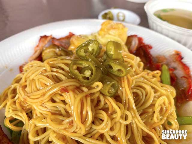 pickle chilli noodle