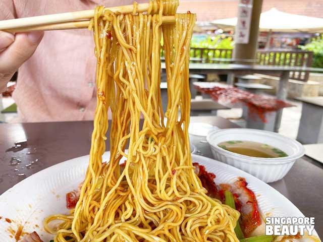 sweet char siew sauce wanton noodle