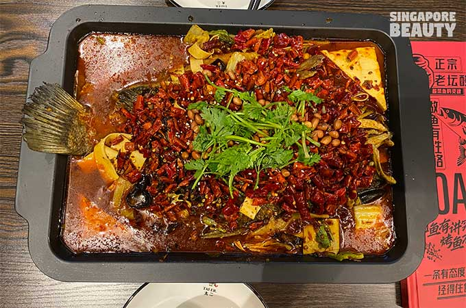 tai er grilled fish with bean curd