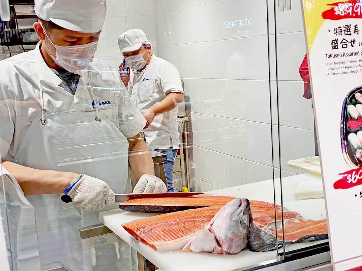 Meidi-Ya fish cutting show kitchen