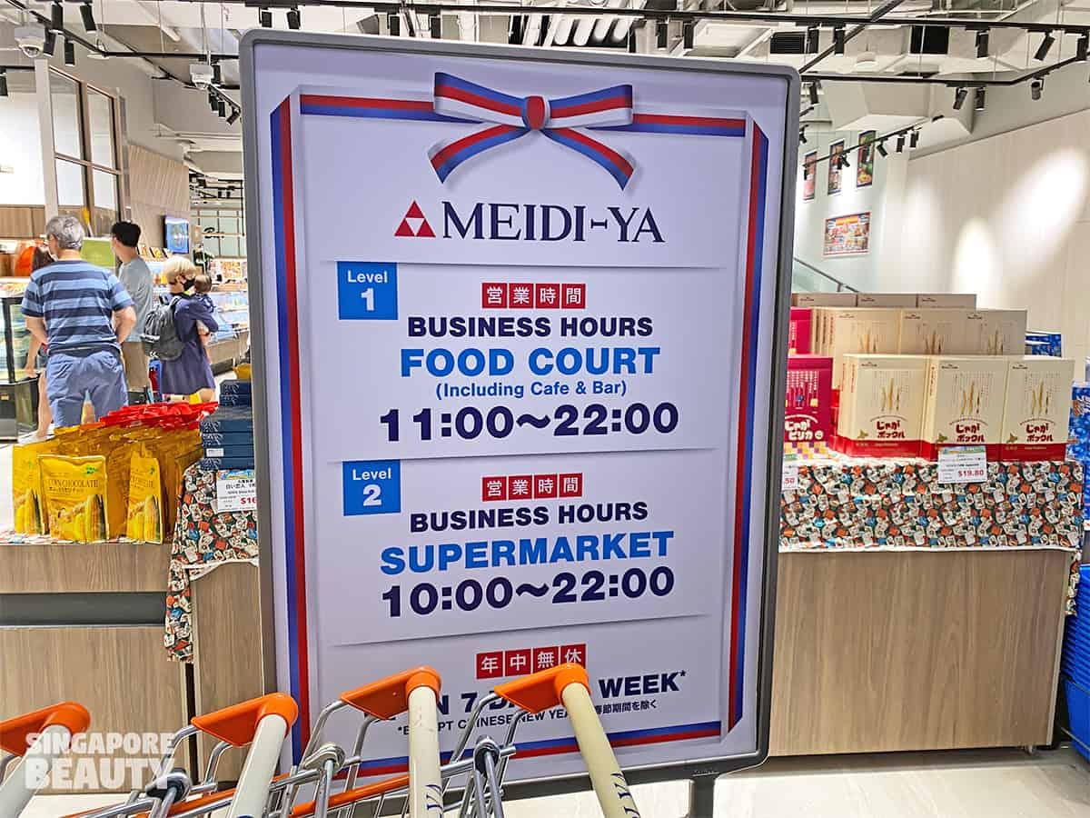 Meidi Ya opening hours