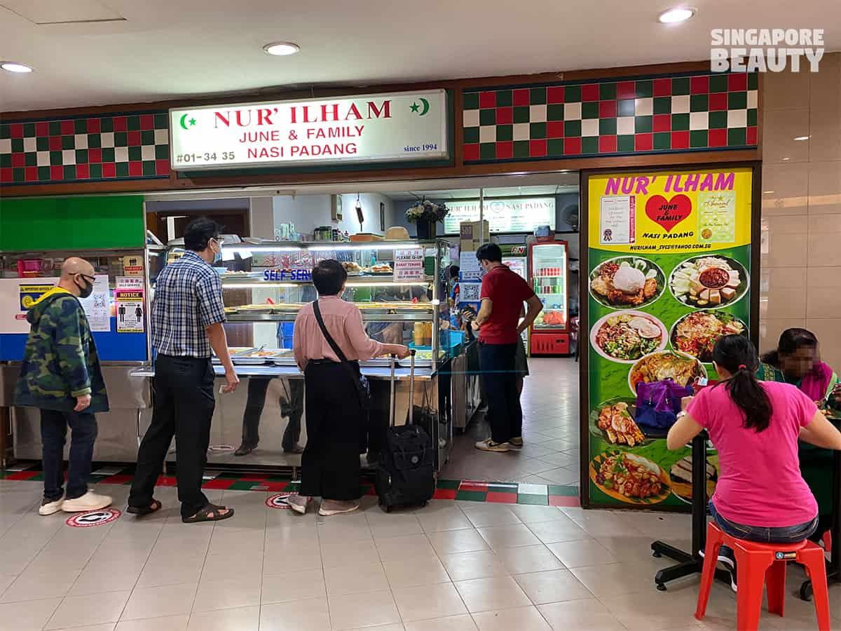 Nur Ilham June & family nasi padang halal food chinatown