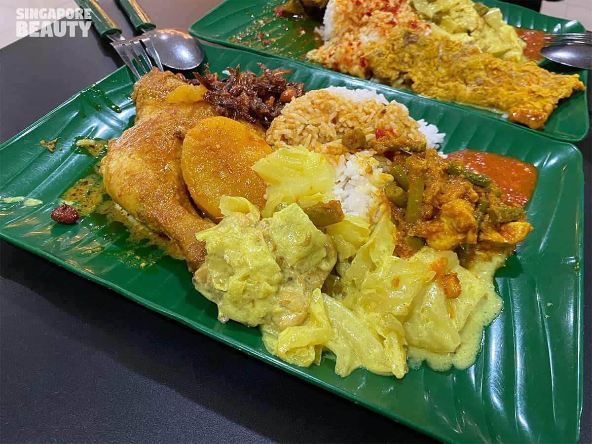 Nur Ilham June & family nasi padang halal food