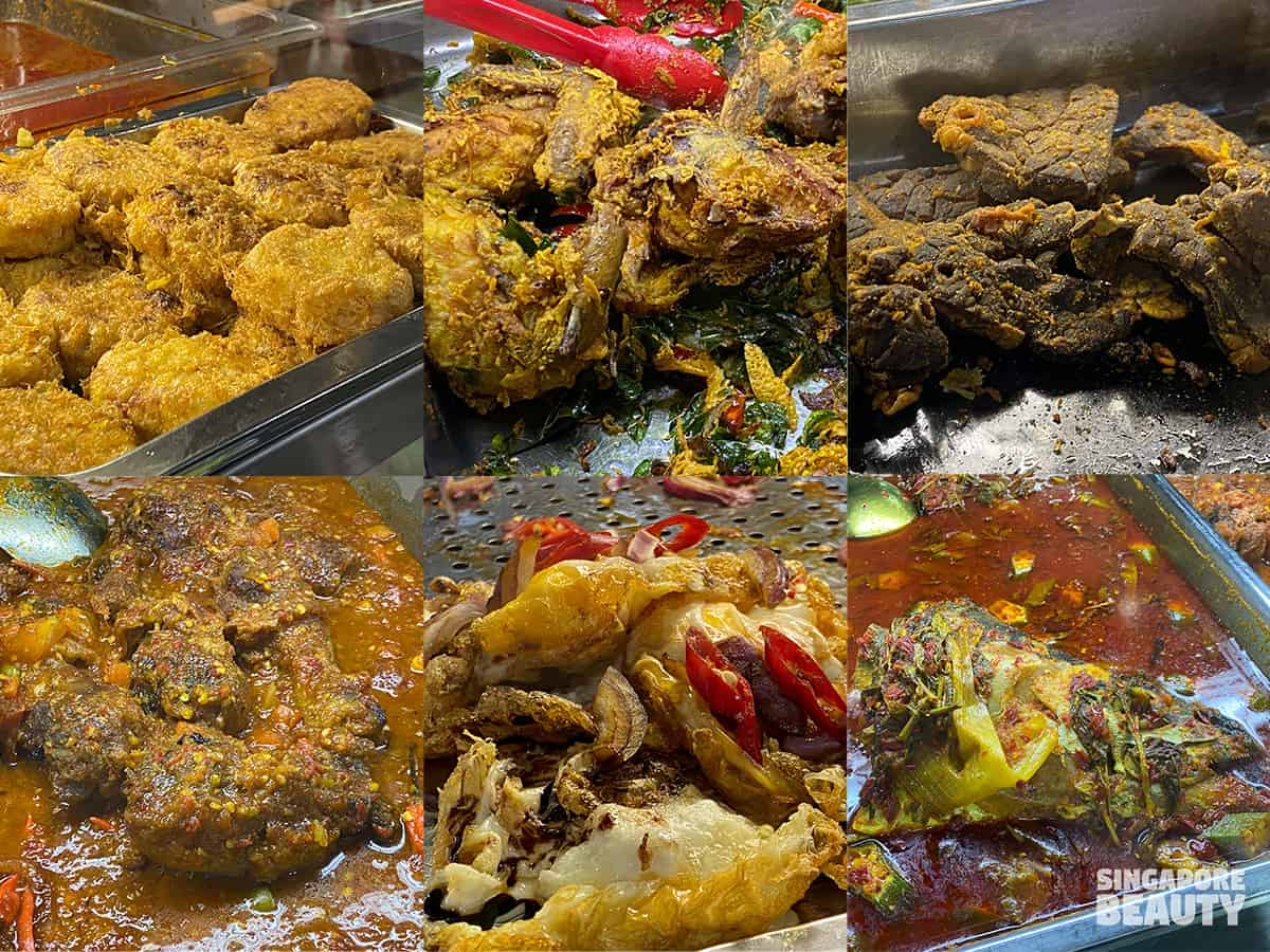Nur Ilham June & family nasi padang menu
