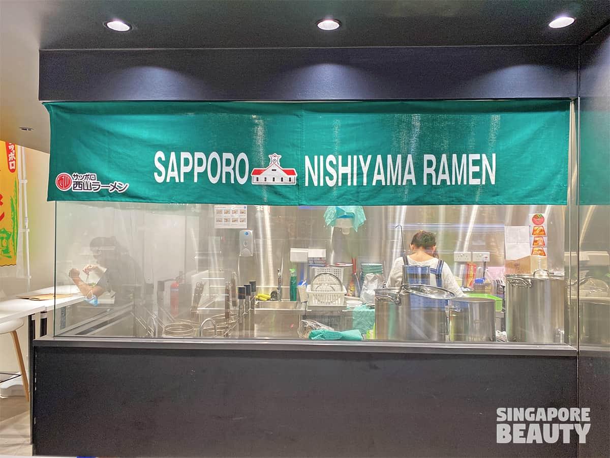 Sapporo Nishiyama ramen counter