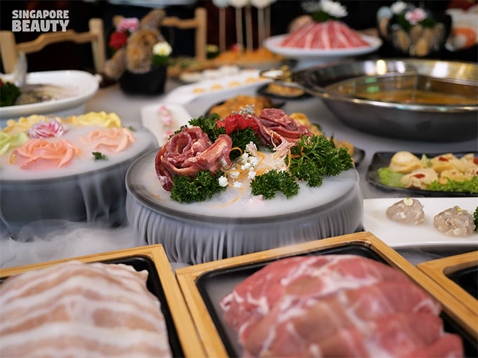 Yanxi gong steamboat rose beef tongue