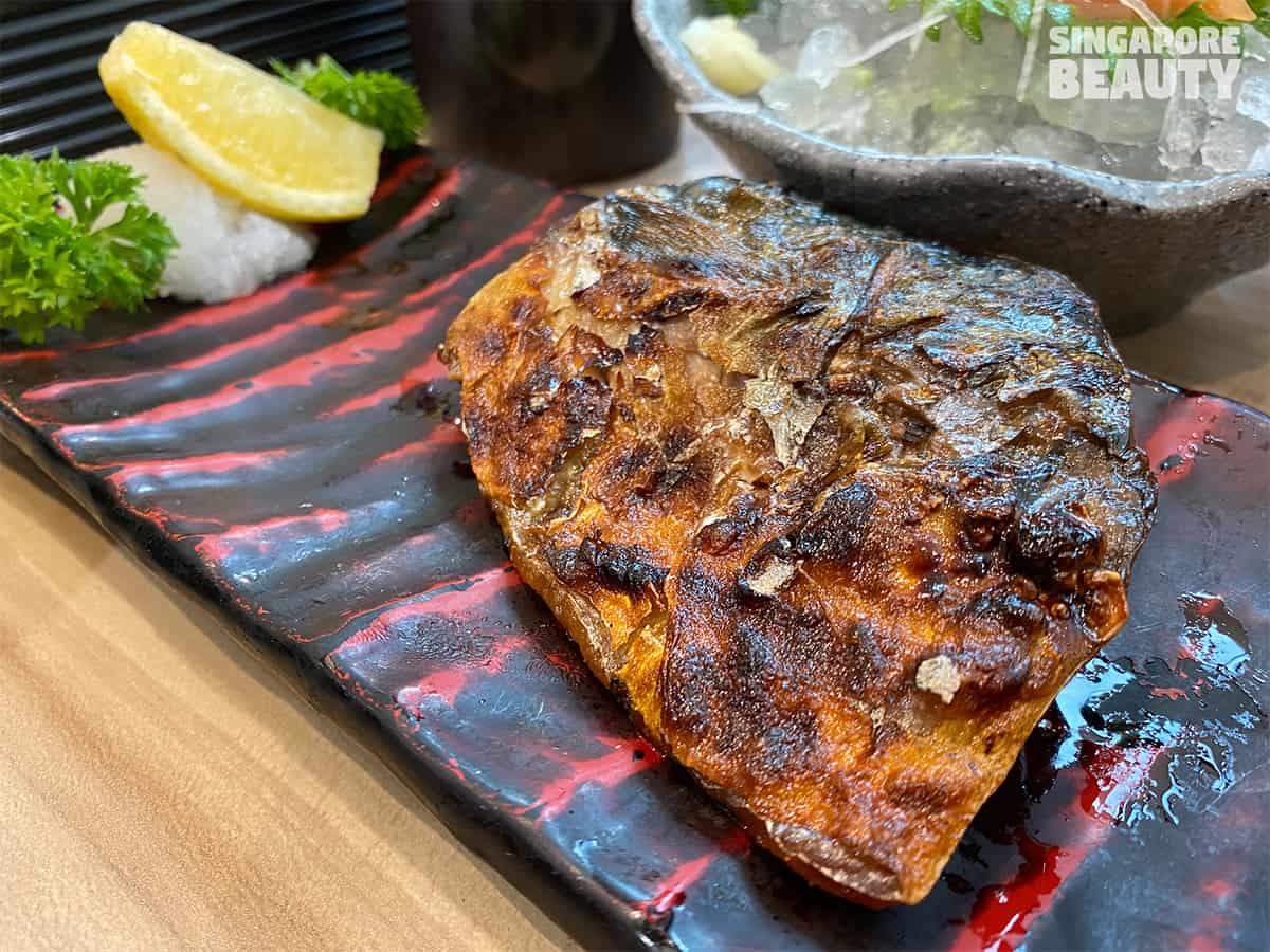 grilled saba fish fillet restaurant