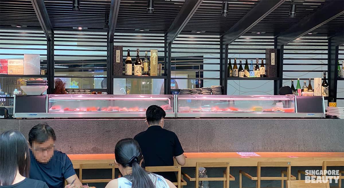 live bar concept sashimi